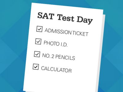 Graphic Design SAT Test Day Checklist