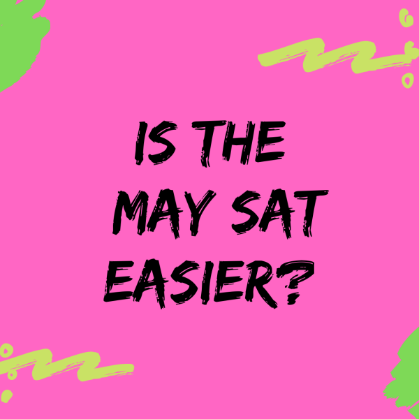 Is the May SAT Easier? Text and colorful blog post