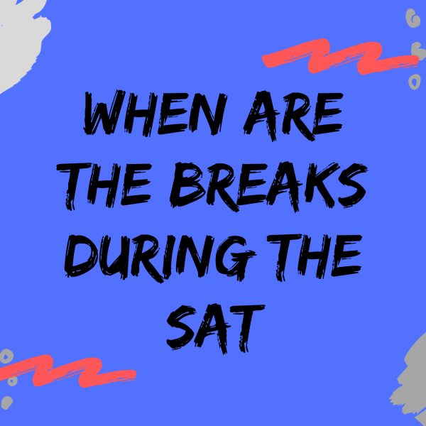 When are the breaks during the SAT. Fun and colorful blog image example
