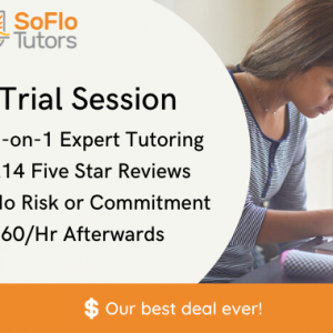 One dollar SAT/ACT tutoring trial session with no risk or contracts banner advertisement