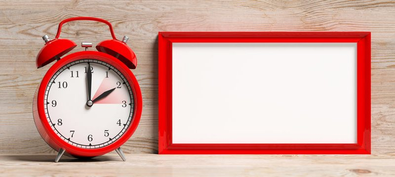 How long it the SAT 2021 red clock on a wooden table blog banner image